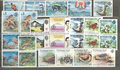 Seychelles lot MNH and Used collection