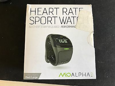 NEW (open box) MIO ALPHA 2 Heart Rate Watch + Activity Tracker, Black Med/Large
