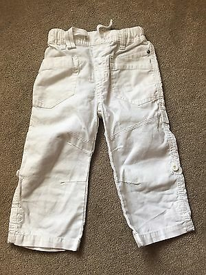 Next white summer trousers 18m - 2y