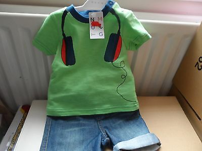 baby boy 3-6 month summer t shirt and shorts set NEW