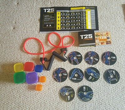 Beachbody T25 Alpha&Beta DVD'S and food portion pots