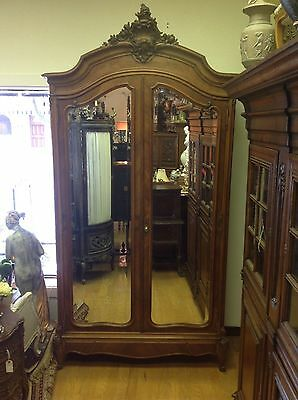 Antique French Louis XV armoire wardrobe