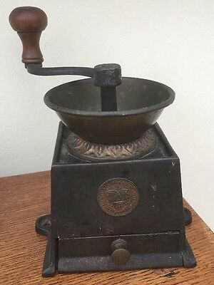 Rare Vintage Antique Kenrick And Sons Cast Iron Coffee Mill Grinder No. 0