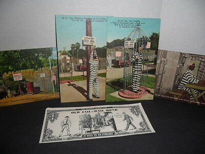 "Vintage Linen Postcards ""the Old Jail"" St. Augustine, Fla"