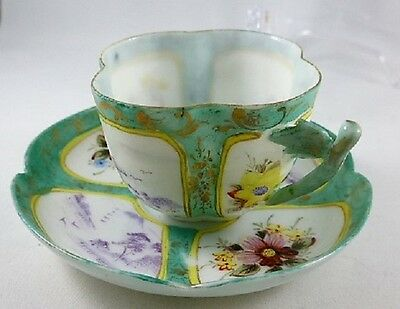 Vintage Oriental/Asian Egg Shell Porcelain Hand Painted   Cup & Saucer
