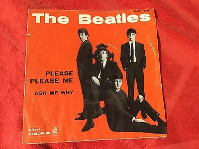 Beatles: Please Please Me /Ask Me Why  1963 Italy Blu Label Parlophon Qmsp 16346