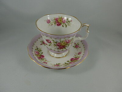 Vintage Royal Albert Footed Cup and Saucer GAIETY SERIES TANGO