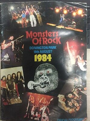 MONSTERS OF ROCK Donington Park August 18, 1984 OFFICIAL PROGRAM AC/DC Dio Y & T