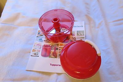Tupperware Speedy Boy in rot mit Rezeptheft