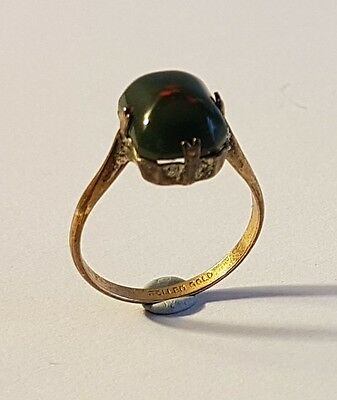 Lovely antique rolled gold blood stone ring. Metal detecting find