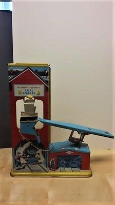 Wolverine USA automatic coal loader. 1950's tinplate litho. Fantastic condition