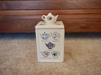 Ringtons Heritage collection china teapot teacaddy by wade
