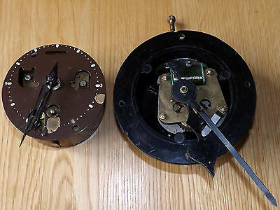 Vintage Mains Electric Clock Movement & Spring Driven Clock Movement