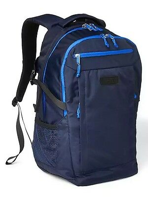 NEW with tags! GAP Navy Blue Nylon double-compartment backpack Laptop Bag