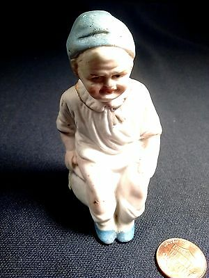Antique BISQUE Frowning BOY POTTY BABY Germany? Piano Baby