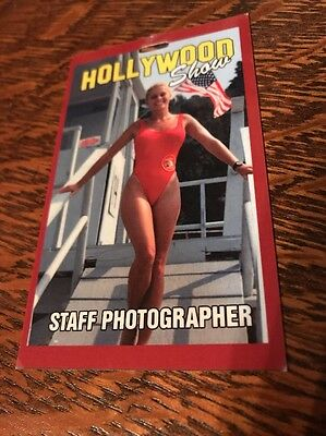 Baywatch Babe Nicole Eggert Hollywood Show Staff Photographer Pass RARE!