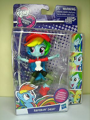 EQUESTRIA GIRLS Minis RAINBOW DASH My Little Pony poseable figure Derpy Trixie
