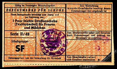 Germany, Lubeck 1948 Reference Mark for Women's Foot Wear - 55mm x 95mm
