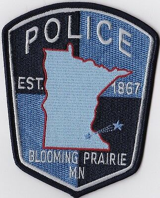 Blooming Prairie Police Patch  Minnesota MN NEW!!