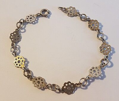 Wonderful sterling silver floral design bracelet. Metal detecting beach find