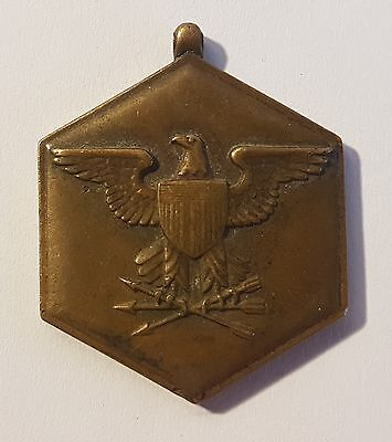 Superb bronze tone military merit medal. Metal detecting beach find