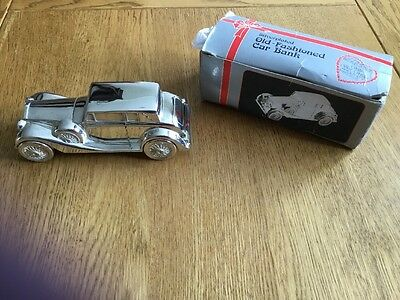 Silver Plated Vintage Car Money Box
