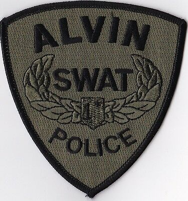 Alvin Police SWAT Police Patch Texas TX NEW