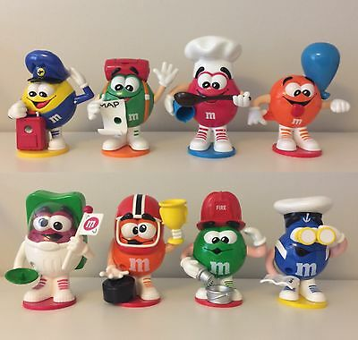 M&M Mini Candy Dispensers (lot of 8) - MARS Collectibles