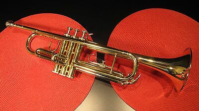 Vintage Accord Usa Brass Trumpet By Blessing 7C Mouthpiece & Case - Very Nice !