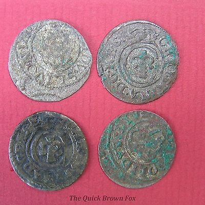 Lot of 4 Livonian shilling, Christina of Sweden, mid. 17 century