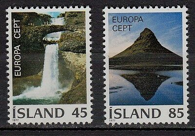 33F** Lot x2 Timbres ISLAND (CEPT EUROPA 1977) Neuf**MNH