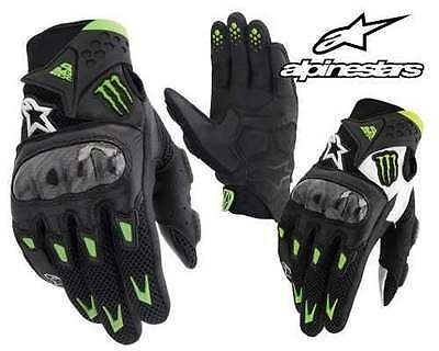 Alpinestars M10 Air Carbon Monster Energy Motorcycle Gloves