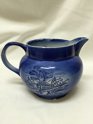 Arthur Wood Antique Blue and White Pottery Pitcher