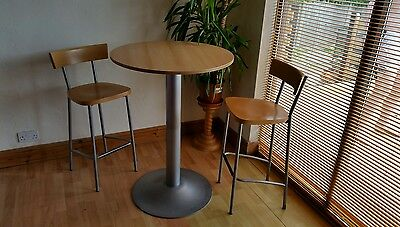 bistro high breakfast bar table x 2 stools
