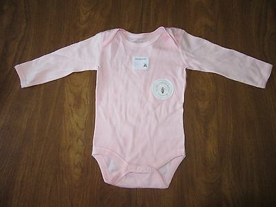 aed33040f6e8 Burts Bees Baby Girls 0-3 Months Pink Long Sleeve One Piece Organic Cotton  NWOT