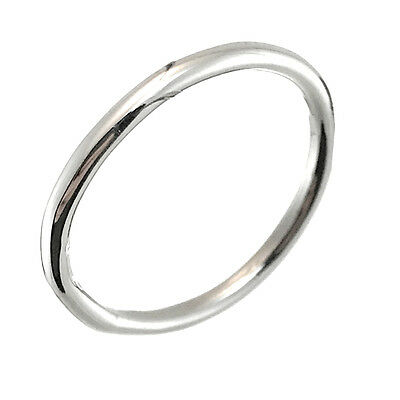 TAXCO 925 STERLING SILVER 1.5 MM PLAIN BAND RING -Mexico 925 Silver