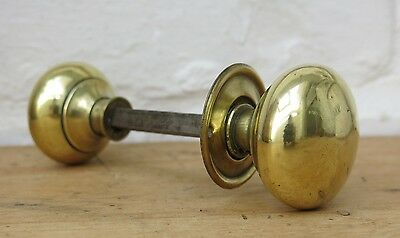 Vintage Brass Rim Lock Door Knobs Handles 163 19 00