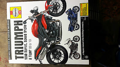 triumph tiger speed triple  sprint  1050 haynes manual
