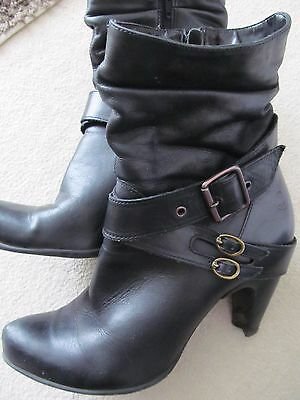 bronx womens leather ankle boots size 8