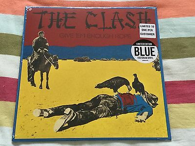 The Clash, Give 'em Enough Rope, Limited Edition Blue Vinyl Album,Factory Sealed