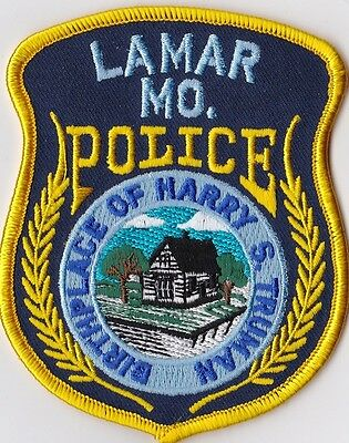 Lamar  Police Patch Missouri MO NEW!!