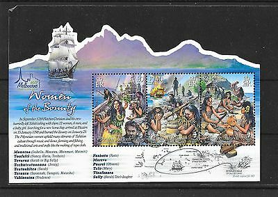 Pitcairn 2017 NEW ISSUE Women of the Bounty Melbourne Stamp show Ovpt M/S MNH