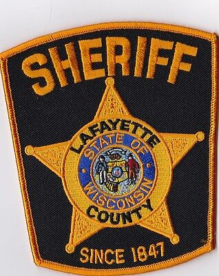 Lafayette County Sheriff Police Patch Wisconsin WI