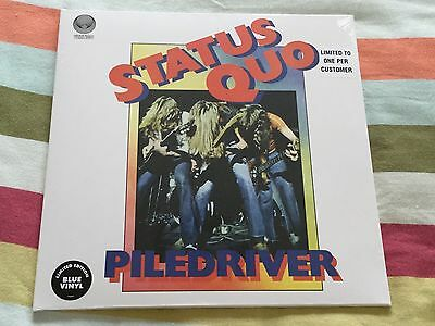 Status Quo, Piledriver, Limited Edition Blue Vinyl Album, Factory Sealed