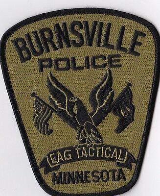 Burnsville Police EAG Tactical Police Patch Minnesota MN NEW