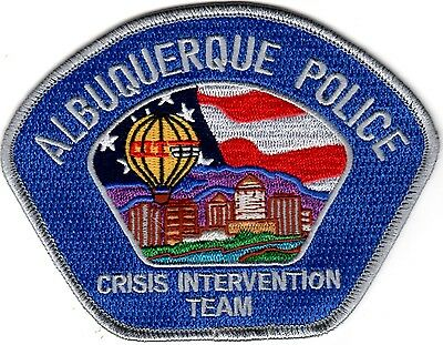 Albuquerque Police Crisis Intervention Team patch New Mexico silver NEW