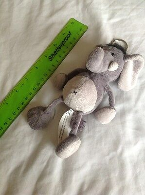 Elephant Soft Toy Key Ring