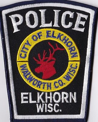Elkhorn Police Patch Wisconsin WI NEW !!!