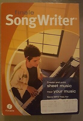 Songwriter Finale PC/MAC Software BRAND NEW (Sealed)