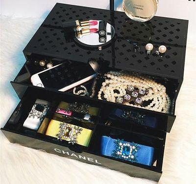 Rare Chanel Makeup Cosmetic Organiser Storage Drawer Limited Vip Collectible !!!